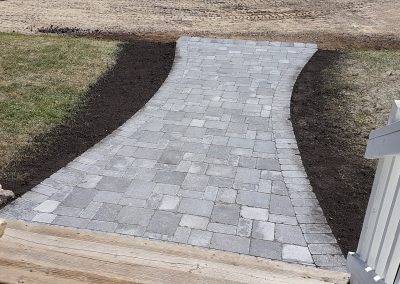 Roman Pavers (Charcoal) Sidewalk